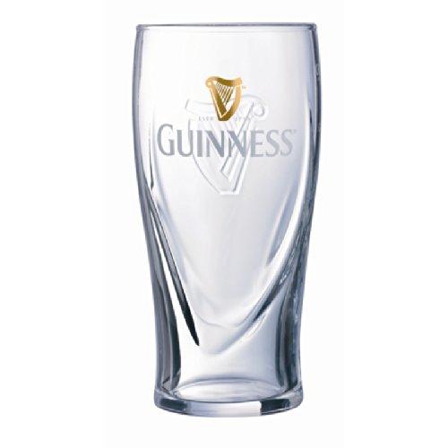 Guinness - Juego de 6 vasos de cerveza de pinta irlandesa (16oz)