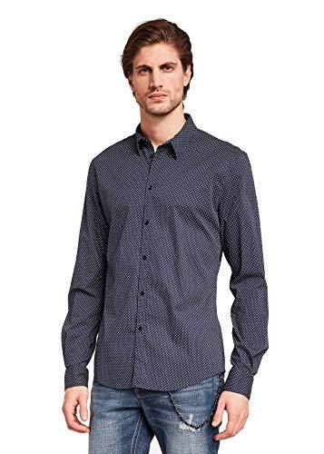 GAUDI JEANS Herrenhemd aus blauem Stoff 921BU45009-926033-01
