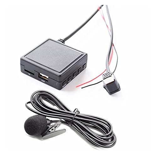 XIAO YANG Coche Bluetooth 5.0 AUX USB Adaptador de música Adaptador de Audio inalámbrico Adaptador de micrófono Ajuste para Radio Pioneer IP-Bus Ajuste para Pioneer P99 P01