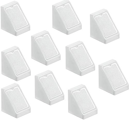 Gedotec H9580 Cornière d'Angle de Meuble   Canne en Équerre pour Table, Chaise, Étagère   Raccord en Plastique PVC avec Vis pour Coin et Joint de Mobilier   Connect Universel Blanc - Lot de 20