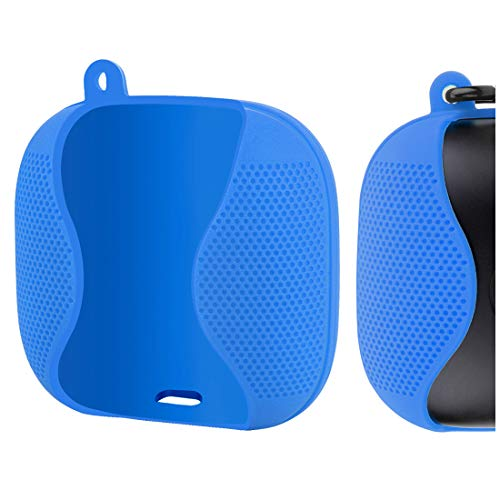 Geekria in-Ear Headphone Case for PB Pro Wireless Bluetooth Earbuds (2019 Newest), Scratch, Shock Resistant Silicone Case, Easy Carry Protective Case Cover with Carabiner (Blue)