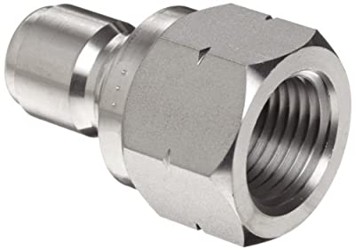 Dixon STFP Series Stainless Steel 303 Hydraulic Quick-Connect Fitting, Plug, Female Coupling x Straight