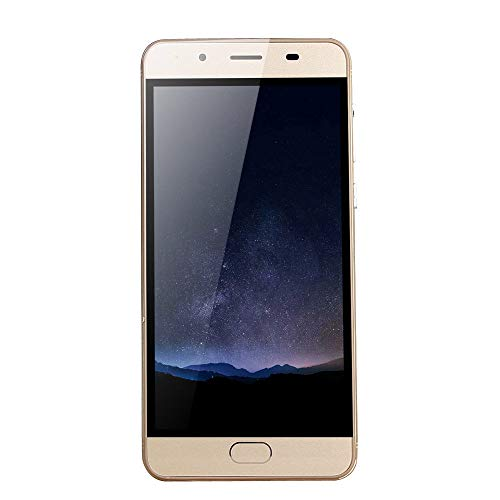 Unlocked Smartphone,2019 New5.0' Ultrathin Android5.1 Quad-Core 512MB+512MB GSM WiFi Dual SIM Dual with Camera Mobile Phone Cell Phone (Gold)