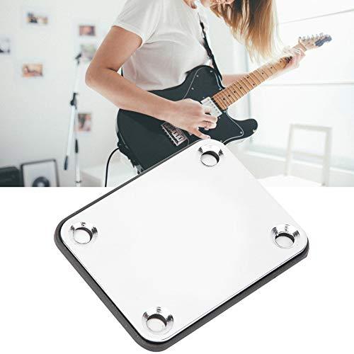 Verbindungsplatte, hochwertiger Edelstahl Der Installationslochabstand beträgt 51 x 38 mm Musikinstrument für Bassgitarre