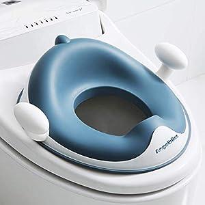 Angelbliss reductor wc niños Serie avanzada, Tapa WC con reposabrazos, respaldo, tapizado, diseño antideslizante, Ayuda para aprender a ir al baño