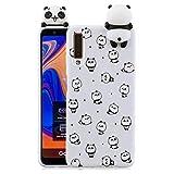 Suhctup 3D Design Panda Coque Compatible avec Samsung Galaxy A8 2018 / A530 / A5 2018, Mignon Motif...