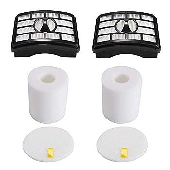 2 HEPA Filter + 2 Foam Flet Filter Kit for Shark Rotator Pro Lift-Away NV500 NV501 NV505 NV552 HEPA Filter & Foam Filter Kit Part # XFH500 & XFF500