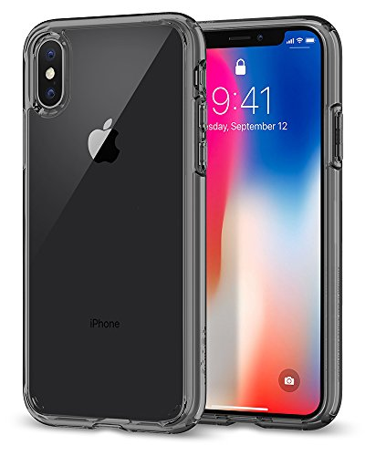 Spigen Ultra Hybrid Hülle Kompatibel mit iPhone XS & Kompatibel mit iPhone X -Space Crystal