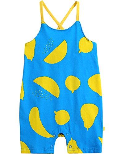 vaenait Baby 56–80 sau TONGLING Combinaison Manches Courtes Grenouillère Jeu pour bébé Blue Fruits - Bleu -