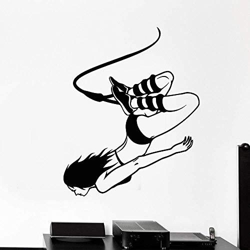 Muursticker Decal muursticker springen extreme sport pak muur sticker tiener kamer huisdecoratie slaapkamer woonkamer 33x42cm