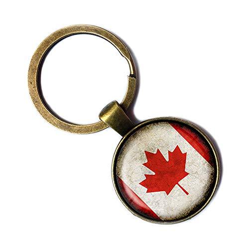 Canada Canadian Kanada Kanadische Flagge Keychain Bronze Schlüsselanhänger