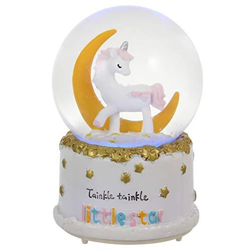 BESPORTBLE - Bola de nieve, caja de música, mesa de luna, estrellas, figuras musicales, globo...