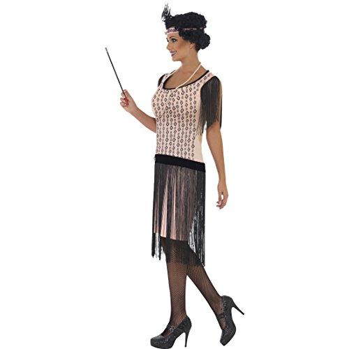 Amakando Disfraz de bailarina de los aos 20, disfraz sexy para mujer, talla S 36/38, jazz, canguro, con flecos, charlestn, para carnaval, con charlestn, para mujer, vestido de cctel