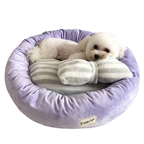 HJHJHAB donut van pluche voor huisdieren, ronde kat, warme hondenholle kennel zacht puppy sofa middenbed voor katten slaapzak orthopedisch