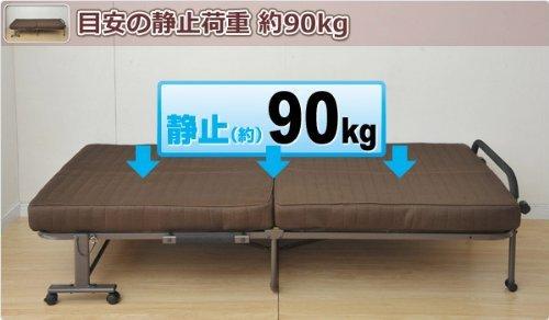 山善(YAMAZEN)ソファベッド4way折りたたみカウチソファベッドカーキISO-110(DOL/DBR)RG