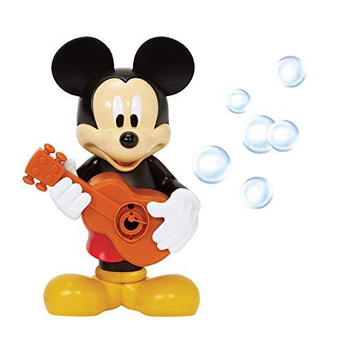 Little Kids Disney Mickey Mouse Action Bubble Blower Machine, Includes Bubble Solution