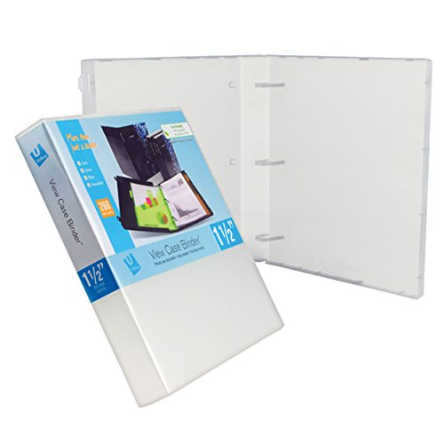 UniKeep 3 Ring Binder - Clear - Case View Binder - 1.5 Inch Spine - with Clear Outer Overlay - Box of 15 Binders
