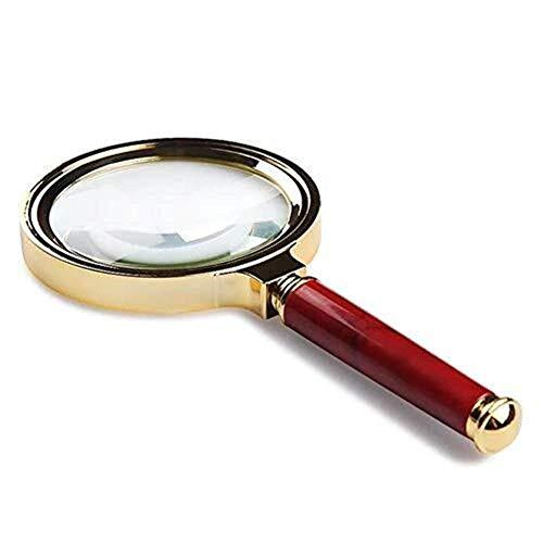 Dsnmm Vergrootglas Sieraden Vergrootglas Oude Man Lezen Handheld Vergrootglas 6X Optische Hd Lens Professionele Elektronische Telefoon Reparatie Microscoop, Optische Lenzen Bescherm Visie Zonder Kwetsen Ogen