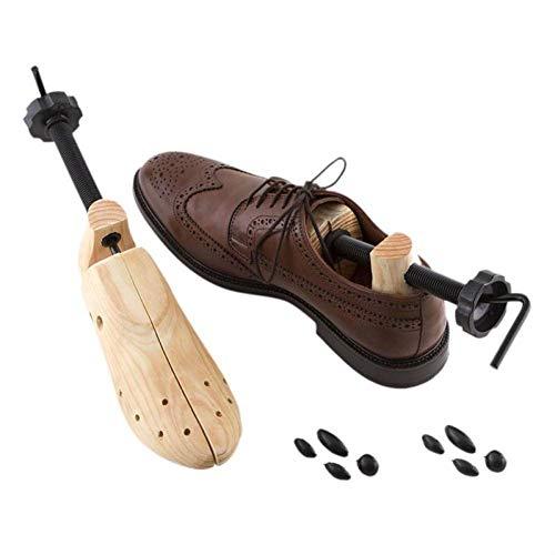 WWLDPTTCD 2 Stück Unisex 2-Wege verstellbare Schuhspanner aus Holz Schuhexpander