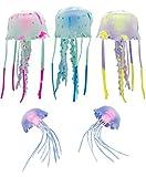 Fantasy Jellyfish for Jellyfish Lamps – Set of 5 Fun Glowing Silicone Jellyfish for Jellyfish Lava Lights & Aquariums