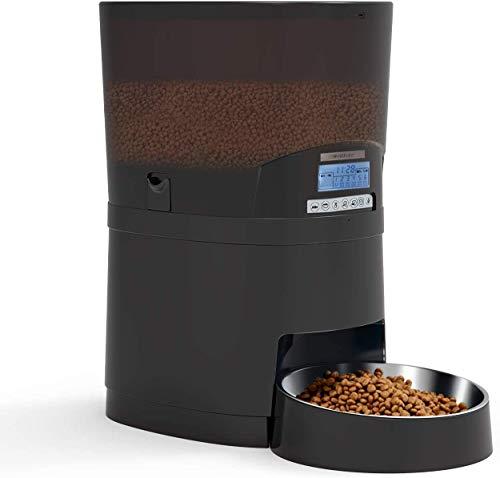 WellToBe Katzen Futterautomat, Pet Feeder 7L Futterspender für Hunde und Katzen - programmierbarer Timer für bis zu 6 Mahlzeiten pro Tag, Portionskontrolle, Diktiergerät, Batterie und Steckdose
