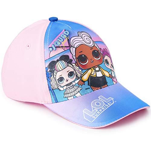 L.O.L. Surprise ! Mädchen Premium Baseball Baseballmütze | Kinder Sonnenhüte für den Sommer in Schwarz Rosa Blau Sparkly Glitter Einhorn Holographische Krempe (Blau)
