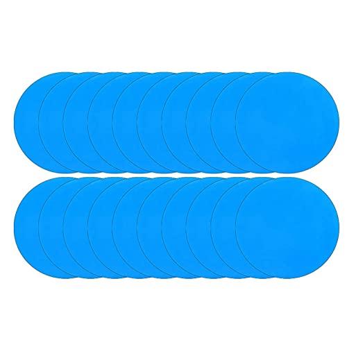 SALATEILY - 20 parches de reparación de PVC autoadhesivos para piscina, gomas...