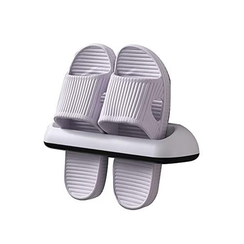 organizador zapatos 2 Unids Zapatillas De Baño Montaje En La Pared Montado En La Pared Organizador De Zapatos Rack Soporte De Zapatos Soporte De Zapatos Auto Adhe(Size:27*5.5*5cm,Color:Blanco + negro)