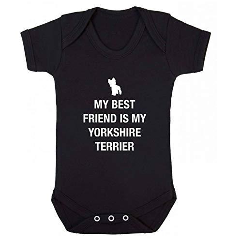 Flox Creative Gilet pour bébé Best Friend Yorkshire Terrier - Noir - XS