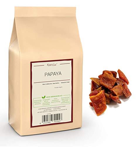 Kamelur 1kg Papaya getrocknet - naturbelassene Trockenfrüchte in bester Qualität – getrocknete Papaya ungeschwefelt und ungezuckert