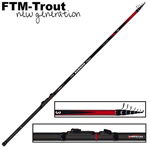 FTM Bomber Trout 3 Forellenrute 4m 10-20g - Angelrute zum Forellenangeln, Teleskoprute zum Sbirolinoangeln, Tremarella Rute