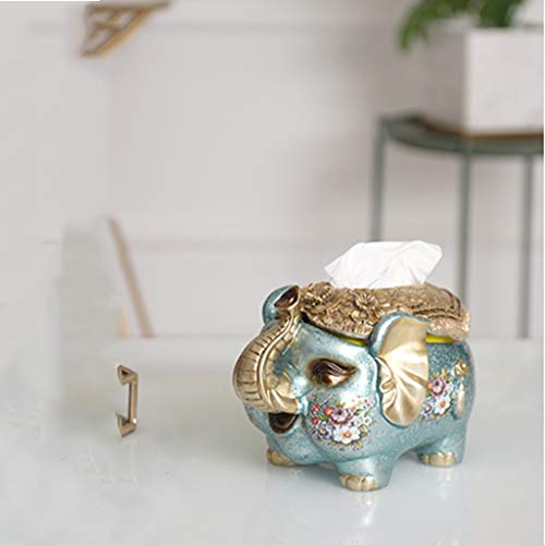 Paper towel Cleaning Tissues Tissue Box Simple Elephant Tissue Box Living Room Tray Home Napkin Decoration Tissue Box Home Storage Box Coffee Table Napkin Tray Home Living Room Creative Decoration