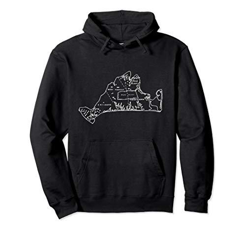 Martha's Vineyard Island Map outline T-shirt Pullover Hoodie