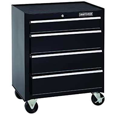 Craftsman 26 Inch 4 Drawer Standard Duty Ball Bearing Rolling Cabinet - Black