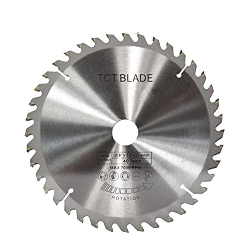 Wnuanjun 1 stück 200 x 25.4mm TCT Kreissägeblatt 8-Zoll-Holzbearbeitungs-Schneidscheiben-Hartmetall-Kipp-Holzsägeblatt (Farbe : 40T, Größe : 2.2mm)