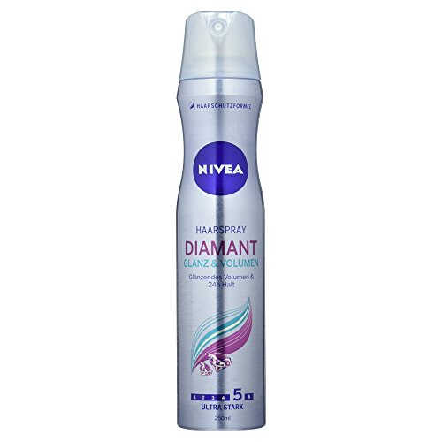 Nivea Haarspray Diamant, Glanz, Volumen, Diamantglanz und 24 Stunde Halt, 250 ml