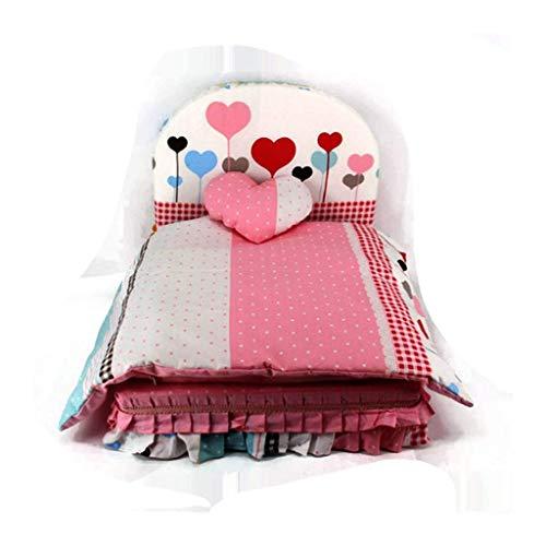YUMUO Schlafsofa für Katzenhunde Abnehmbares und waschbares Puppenbett für Bär Teddy VIP Bettwäsche für warmen Herbst- und Winterkatzenstreu (Farbe: grün, Größe: M)