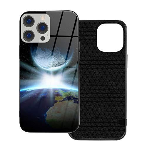 Earth Fantasy Planet Bright Star iPhone 12, iPhone 12 Mini, iPhone 12 Pro, iPhone 12 Pro, iPhone 12 Pro Max, carcasa de teléfono de cristal templado, antigolpes, antiarañazos