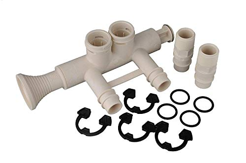 7345396 - High Flow 1' Water Softener Bypass Valve Kit with (2) Adapters, (4) Clips, and (4) O-rings