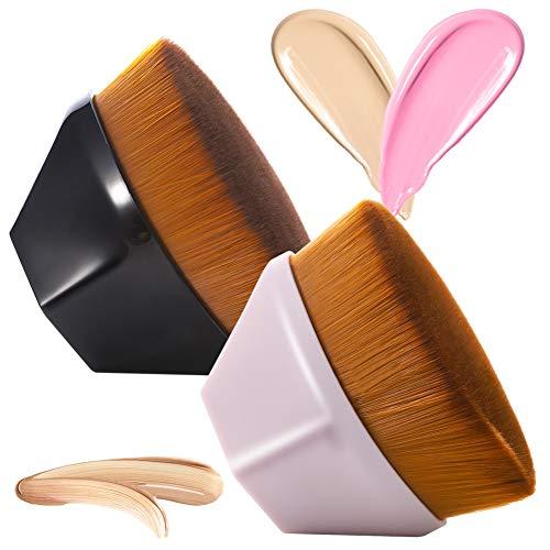 2 Pezzi Pennello Fondotinta,Pennello per Fondotinta Liquido a Forma di Petalo,Soft Touch Pennelli Make Up Fondotinta Per Miscelare Liquidi,Crema o Cosmetici in Polvere Impeccabili