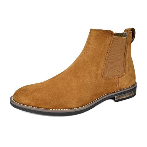 Bruno Marc Men's Urban-06 Camel Suede Leather Chukka Ankle Boots – 15 M US