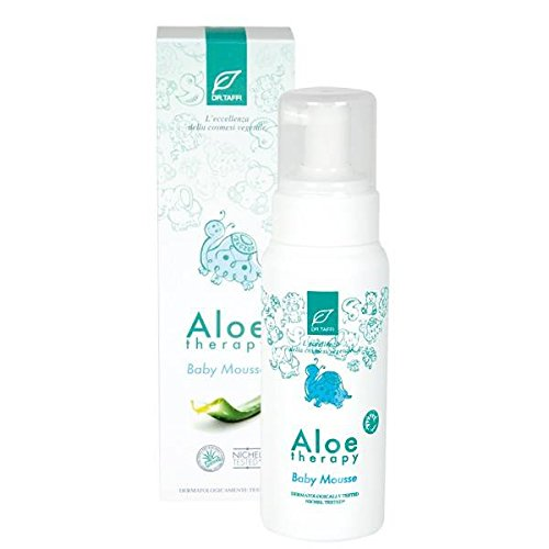 DR.TAFFI - Nettoyant Moussant Aloe Therapy - Idéal pour la peau des bébés et des tout-petits en particulier pour la zone de couche-culotte - Sans allergènes parfum - Nickel testé. - 250 ml