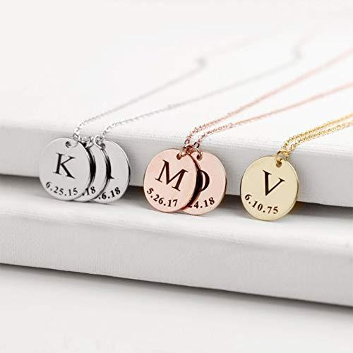 Dijes para Pulsera de joyería Collar de Barra Personalizado Fabricación de Joyas de Acero Inoxidable Placa de identificación Personalizada Regalo de mamá
