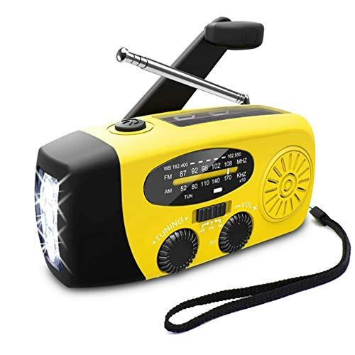 Radio de emergencia AM/FM / NOAA, radio portátil con manivela solar con banco de alimentación, linterna de bolsillo de 3 del para la seguridad de los hogares y la supervivencia al aire libre