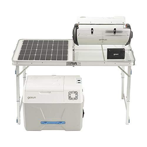 GOSUN Solar Kitchen Bundle | Portable Foldable Solar Table + Hybrid Electric & Solar Oven + Iceless Solar Cooler + Powerbank Charger | Camping Equipment Cookware Package - Off-Grid Solar Powered Gear