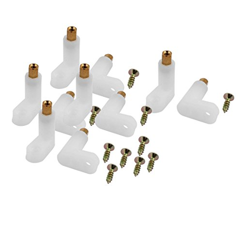 Aexit 10 Pcs Spacers & Standoffs L Shape Insulated PCB Spacer 25mm Supporting Height w Standoffs Self-Tapping Screw