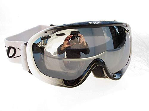 Alpland Damen Skibrille Frauenbrille für Ski und Snowboard Brillenträger geeignet!
