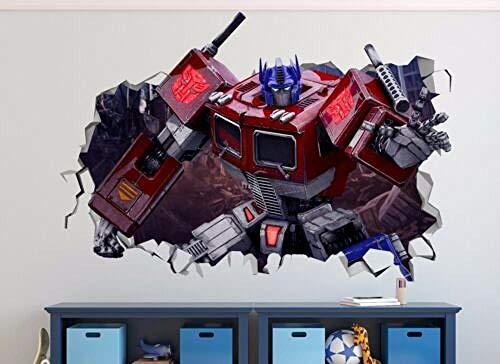 GTRB Pegatinas de pared Transformers g1 Optimus Prime 3d etiqueta de la pared calcomanías para niños art deco vinilo mural
