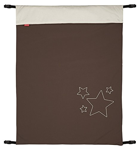 ByBoom - Baby Softshell Decke 70x100 cm Frühling, Sommer, Herbst - Thermo Aktiv für Kinderwagen, Buggy, Jogger, Farbe:Braun/Beige