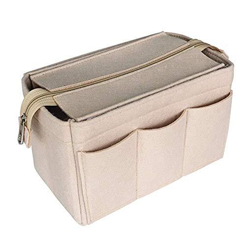 WUCHENG Organizador de cosméticos Fieltro de la bolsa de inserción para el bolso del bolso de la bolsa interior del bolso portátil de maquillaje de maquillaje se adapta a MM MM GM PM SPEEDY bolso de t